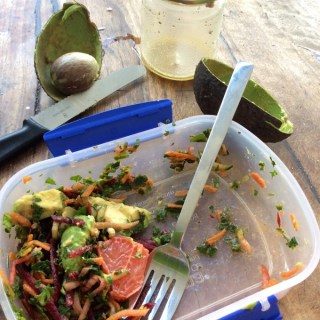 raw grated salad with orange dressing