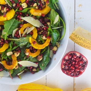 Autumn Roasted Delicata Squash Salad