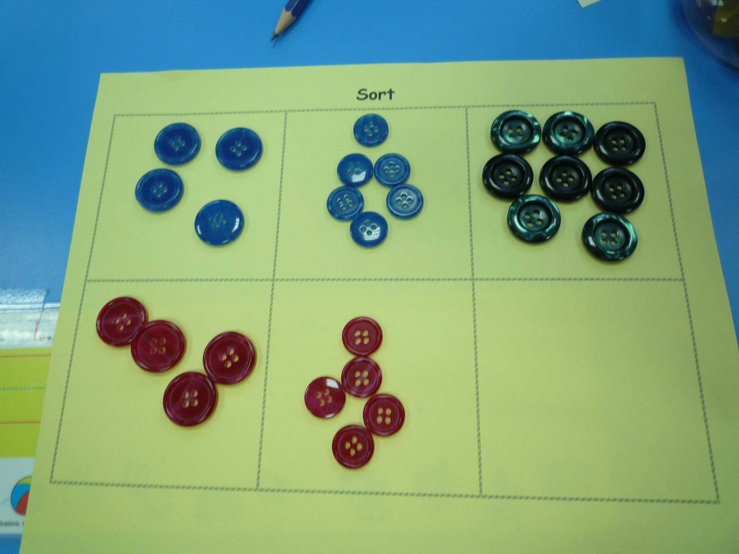 Sorting Activities Kindergarten