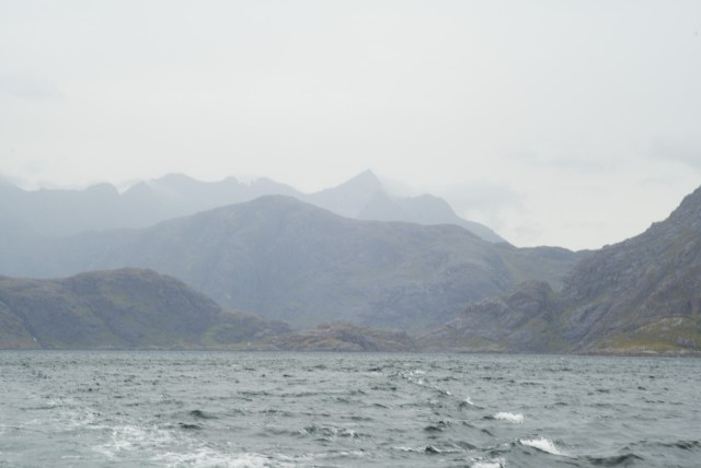 View on the Cuillin hills from the boat to Elgol
