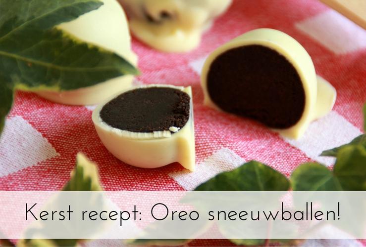 Kerst recept | Oreo sneeuwballen