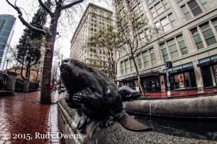 Downtown Portland Beaver Sculpture