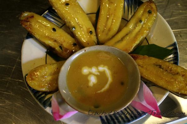 Fried Bananas for Dessert