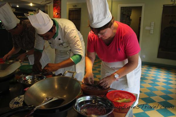 Chef Lisa Hard at Work