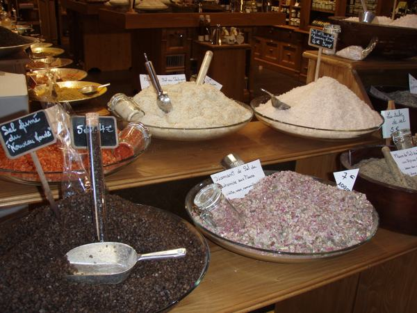Various Salts Found in the Street Markets of Nice