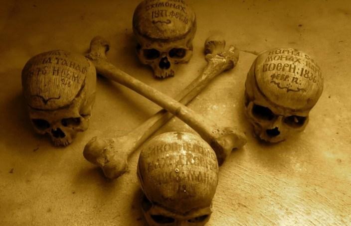 Bones of Neamt Monastery