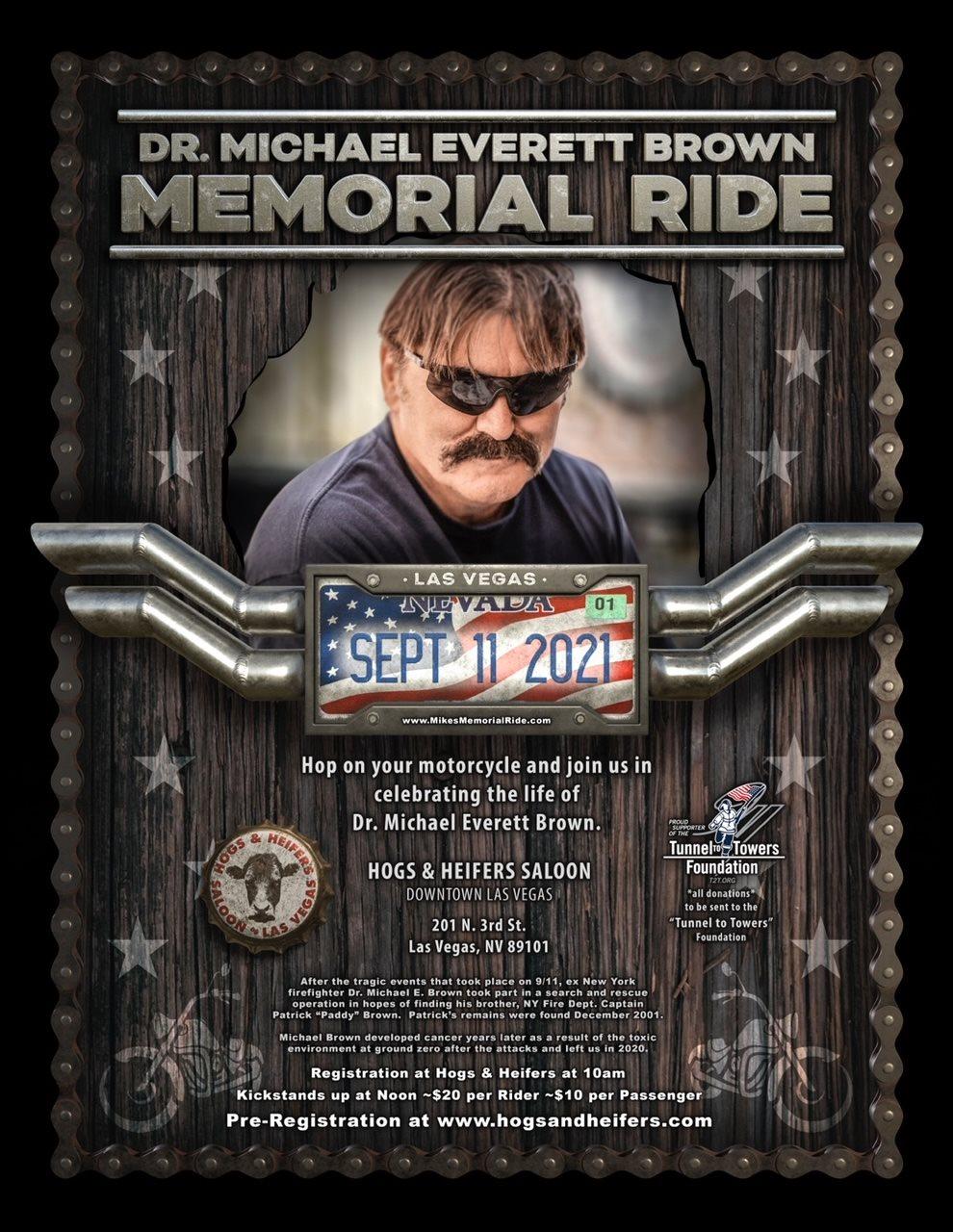 Memorial ride poster