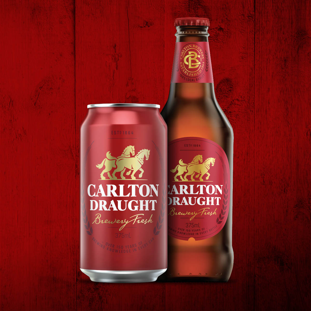 Carlton Draught Bottle & Can