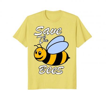 71r3PG8soAL. UL1500  - Mens HoneyBee - Save The Bees Global Warming Tees Large Lemon