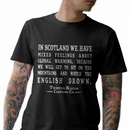 61pu46j 2AL. UL1087  - Scottish T-Shirt: In scotland we have mixed feelings about global warming. Sc...