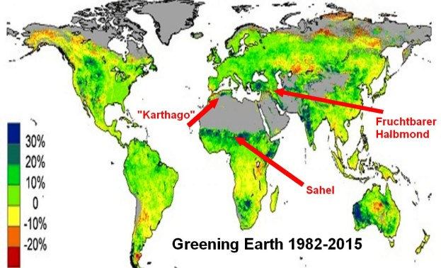 alarmists red faced as satellite image analyses show globe has greened markedly over past 4 decades - Alarmists Red-Faced As Satellite Image Analyses Show Globe Has Greened Markedly Over Past 4 Decades