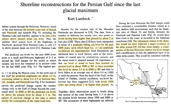 biblical city ur used to sit on the persian gulf coast 6000 years ago today its ruins sit 200 km inland 2 - Biblical City Ur Used To Sit On The Persian Gulf Coast 6000 Years Ago. Today Its Ruins Sit 200 km Inland.