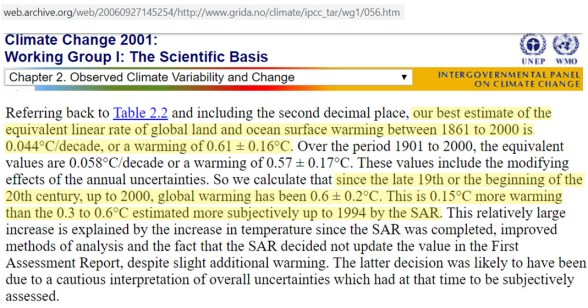 the ipcc claimed earth warmed 0 6c from 1861 2014 now its claimed earth warmed 1 72c from 1850 2015 - The IPCC Claimed Earth Warmed 0.6°C From 1861-2014. Now It's Claimed Earth Warmed 1.72°C From 1850-2015