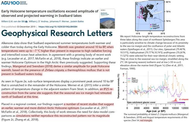 warmth demanding species glacier melt measurements affirm early holocene svalbard was 7c warmer than now 2 - Warmth-Demanding Species, Glacier Melt Measurements Affirm Early Holocene Svalbard Was 7°C Warmer Than Now