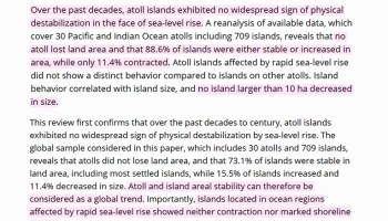 alarmism dies in the maldives 97 of 186 island coasts have grown 59 or not changed 38 since 2005 - Huge Database Of Studies Documenting Meters-Higher Mid-Holocene Sea Levels Swells Again In 2020