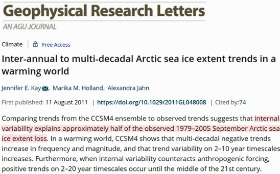 new study 75 of recent arctic sea ice decline is accounted for by an internal variability pattern pna 2 - New Study: 75% Of Recent Arctic Sea Ice Decline Is 'Accounted For' By An Internal Variability Pattern (PNA)