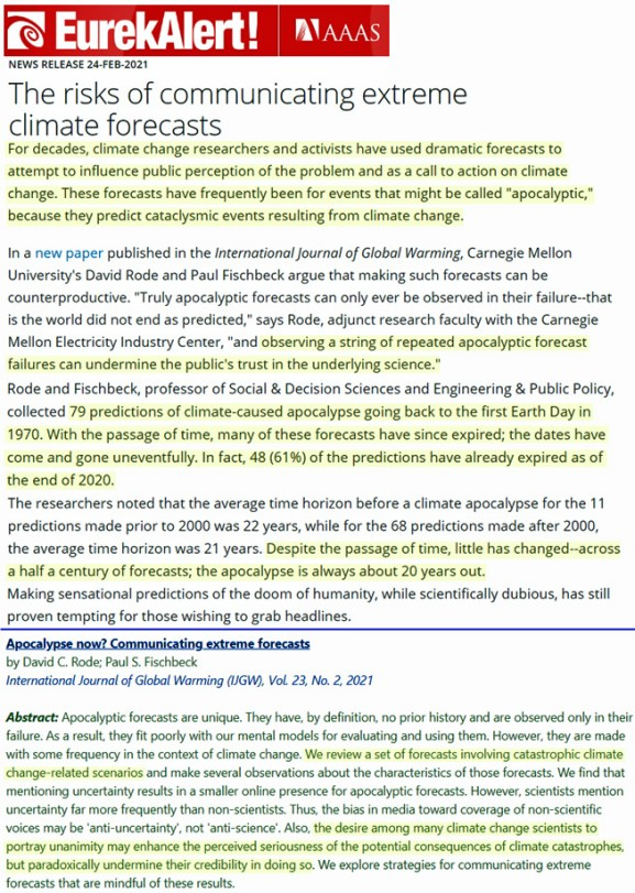 48 of 79 catastrophic climate change predictions have failedthe other 31 just havent expired yet - 48 Of 79 'Catastrophic Climate Change' Predictions Have Failed…The Other 31 Just Haven't Expired Yet