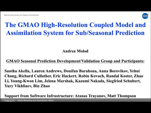 the gmao high resolution coupled model and assimilation system for seasonal prediction - The GMAO High-Resolution Coupled Model and Assimilation System for Seasonal Prediction