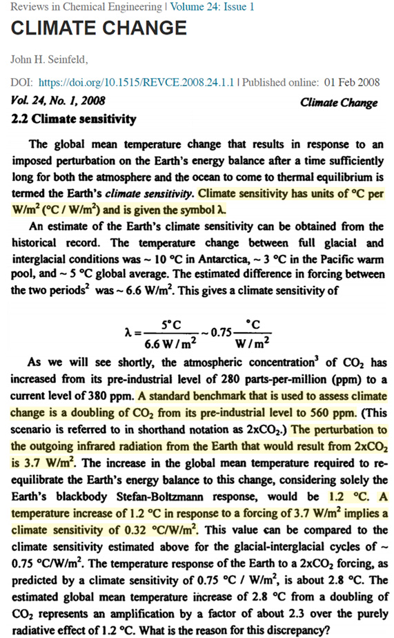 1970s 80s physics said doubling co2 produced just 0 2c 0 8c warming then physics changed 10 - 1970s-'80s 'Physics' Said Doubling CO2 Produced Just 0.2°C – 0.8°C Warming. Then 'Physics' Changed.