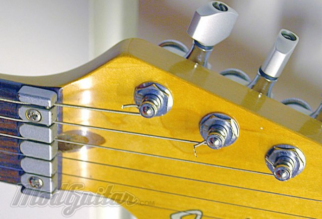 Fender Strat Plus Sperzel brand Locking Tuners and LSR roller Nut