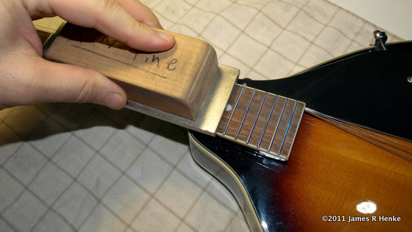 Leveling Mandolin Frets With A Leveling File