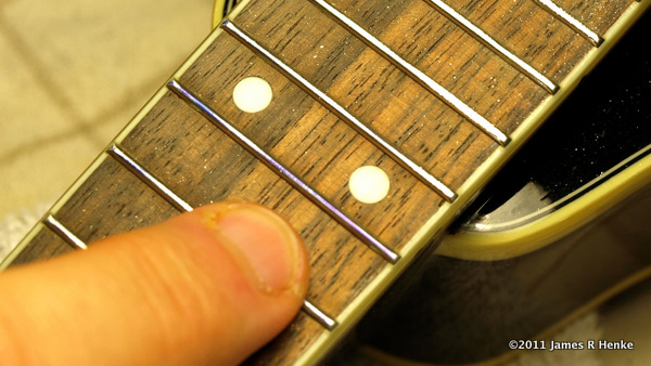 High frets after Going over sharpie marks