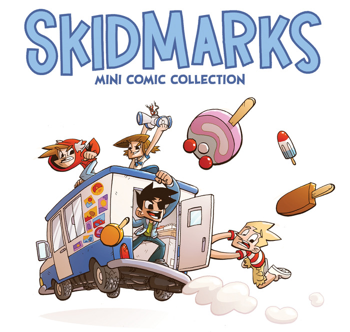Skidmarks: A Mini Comic Collection - Fun, Crazy, Irreverent.