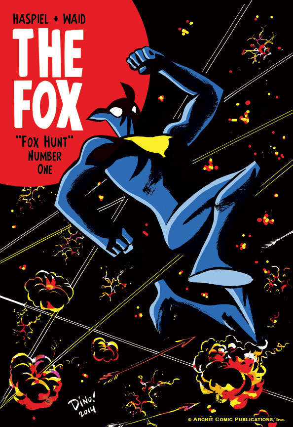"""""""Plus, another dose of THE FOX from Haspiel and Waid, two of comicdom's mad scientists bringing their absolute A-game to the newly-minted ongoing series. Readers are in for a treat, and I only wish they could see the art and stories come in as quickly as I do. It's going to be a fun ride."""""""