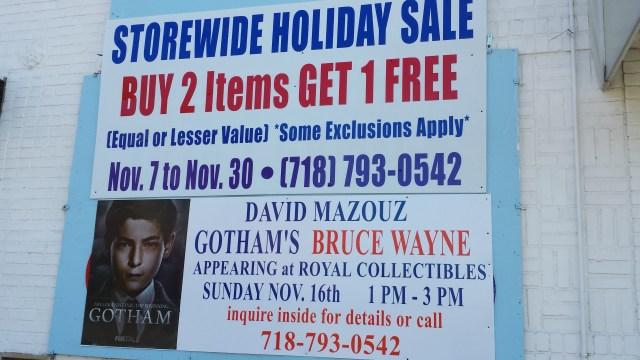 Gotham's David Mazouz Signing at Royal Collectibles - Sunday!