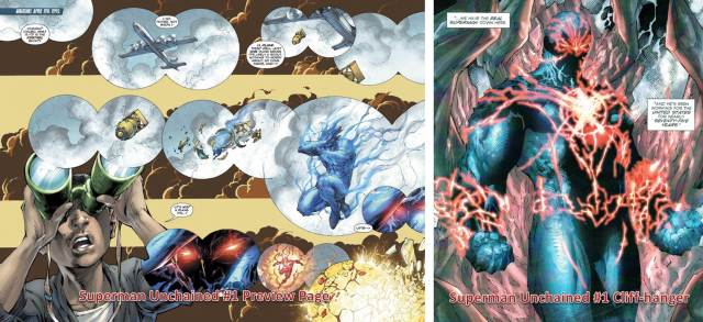 Superman-Unchained-1-Preview-Page-Cliffhanger-Who-is-DCs-first-Superman