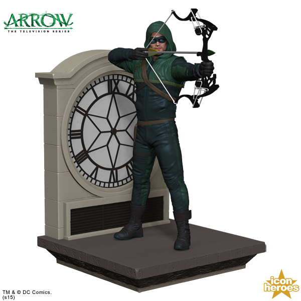YOU HAVE FAILED THIS BOOKSHELF! (If you don't let this Oliver Queen bookend protect it!)