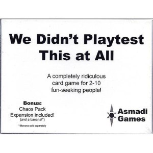 we didn't playtest
