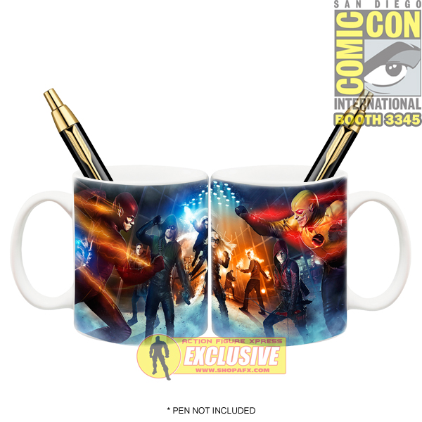 Icon Heroes SDCC Exclusive Arrow - Flash Mug!