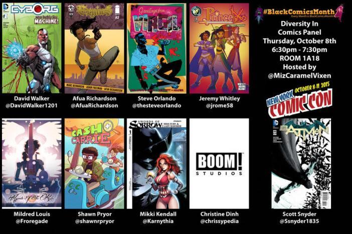 #BlackComicsMonth Diversity in Comics Panel Comes To NYCC!