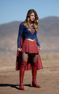"""Red Faced"" -- Personal and professional stress get the better of Kara (Melissa Benoist , pictured) when she goes too far during a training exercise against Red Tornado, a military cyborg commissioned by Lucy Lane's father, General Sam Lane, on SUPERGIRL, Monday, Nov. 30 (8:00-9:00 PM, ET) on the CBS Television Network. Photo: Darren Michaels/CBS ©2015 CBS Broadcasting, Inc. All Rights Reserved"
