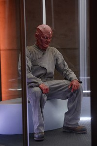 """Human For a Day"" -- Kara and her friends must rely on their inner strength and courage when an earthquake strikes National City. Also, Alex's mistrust of Hank reaches a breaking point when the earthquake traps them in the DEO with Jemm (Charles Halford, pictured), a powerful alien escapee, on SUPERGIRL, Monday, Dec. 7 (8:00-9:00 PM, ET/PT) on the CBS Television Network. Photo: Darren Michaels/Warner Bros. Entertainment Inc. © 2015 WBEI. All rights reserved."
