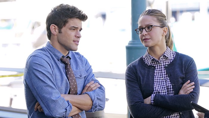 """Childish Things"" -- Kara (Melissa Benoist, right) does her best to support Winn (Jeremy Jordan, left) when his father, the supervillain Toyman, breaks out of prison and seeks out his son for unknown reasons, on SUPERGIRL, Monday, Jan. 18 (8:00-9:00 PM, ET/PT) on the CBS Television Network. Photo: Monty Brinton/CBS ©2015 CBS Broadcasting, Inc. All Rights Reserved"