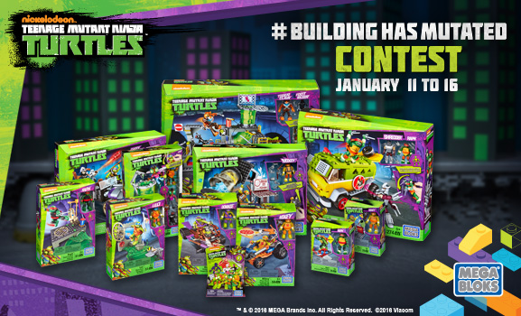 Win Mega Blocks TMNT playsets! From Mega Blocks!