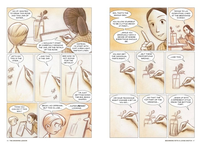 pg. 46-47--Sketching--The Drawing Lesson by Mark Crilley