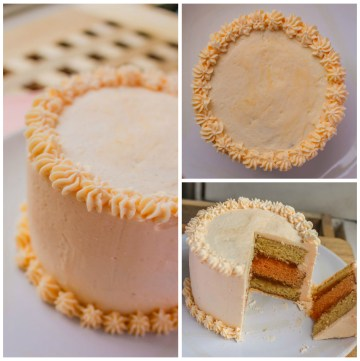 Peach Swiss Buttercream Cake