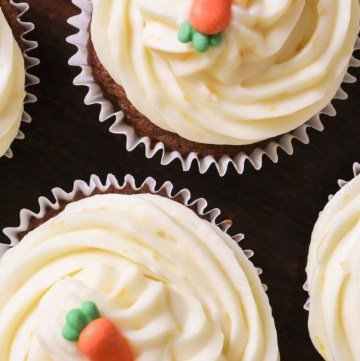 Orange Carrot Cupcakes, with Orange Cream Cheese Frosting.