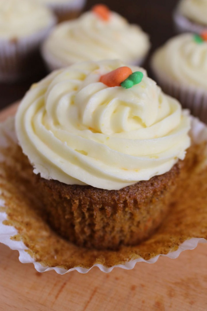 Orange Carrot Cupcakes, with Orange Cream Cheese Frosting.