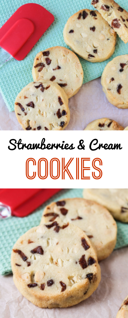 White Chocolate Strawberry Slice & Bake Cookies | What Charlotte Baked