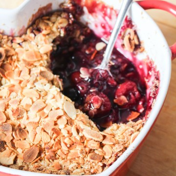 Cherry Blueberry Crumble | What Charlotte Baked