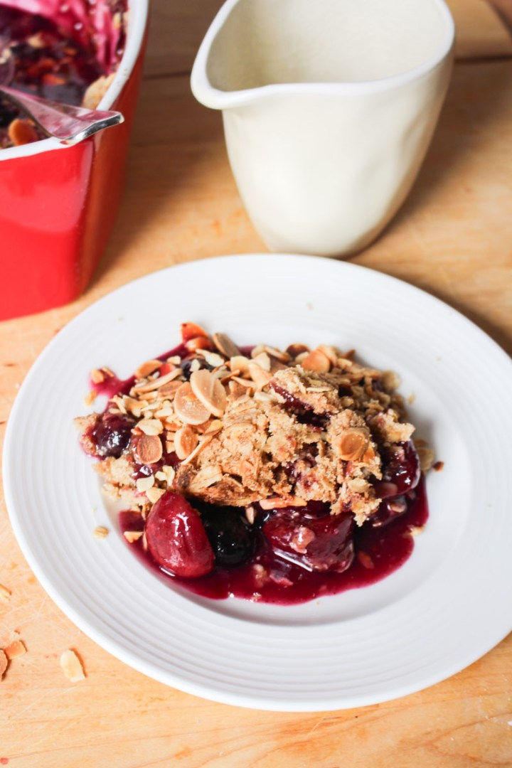 Cherry Blueberry Crumble   What Charlotte Baked