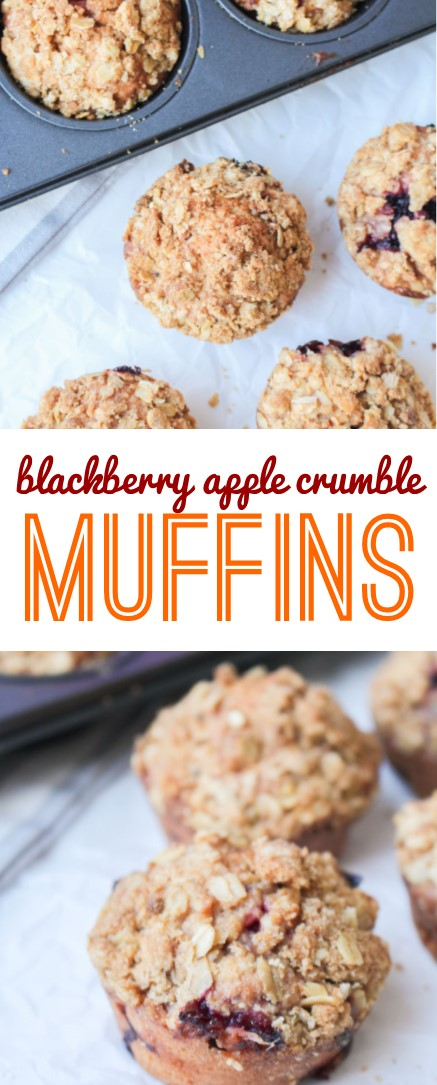 Blackberry Apple Crumble Muffins   What Charlotte Baked