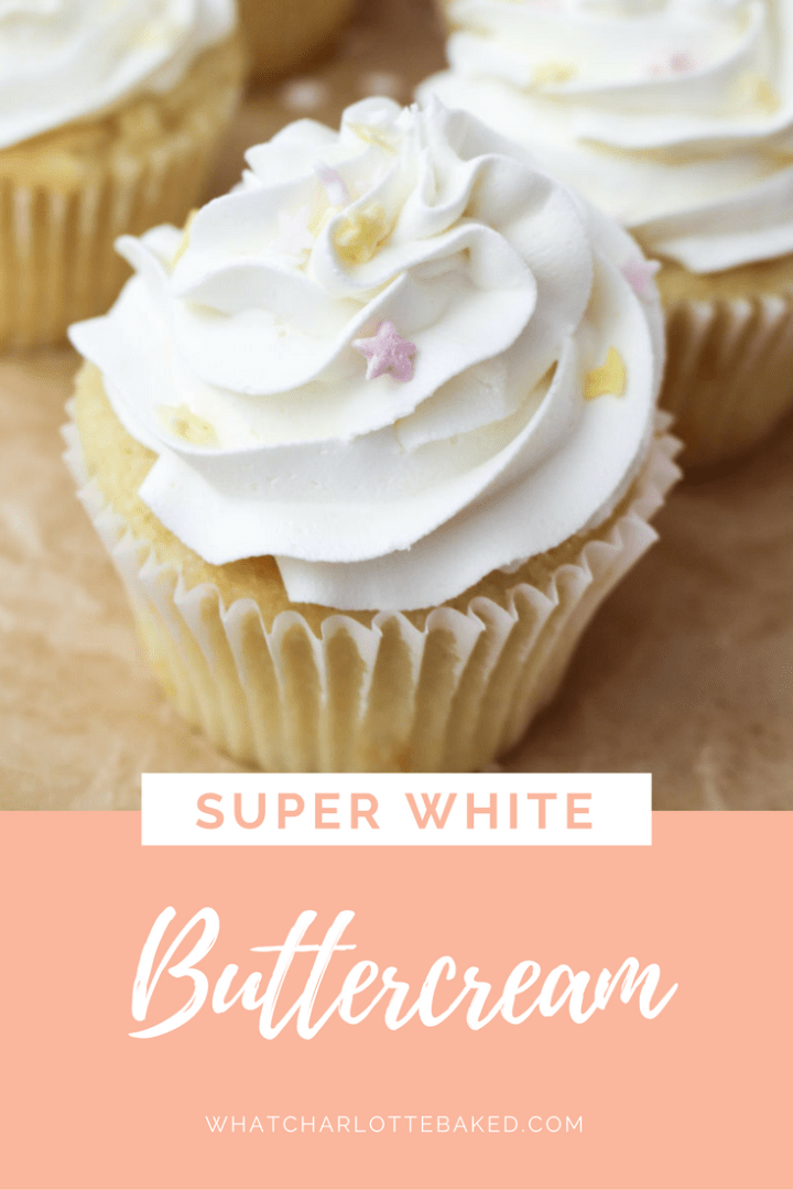 How to Make Super White Buttercream | What Charlotte Baked