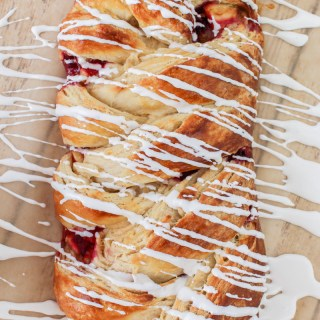Apple Raspberry Danish Braid | What Charlotte Baked