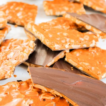 Chocolate Peanut Brittle recipe | What Charlotte Baked
