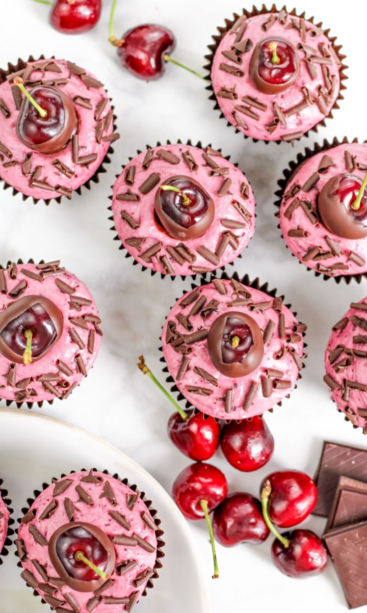 Chocolate Cherry Cupcakes recipe | What Charlotte Baked